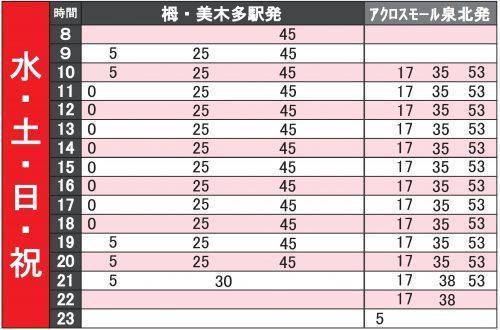 令和元年10月22日(火・祝)の無料シャトルバス運行ダイヤについて